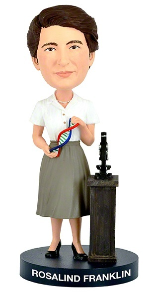 Rosalind Franklin Bobblehead Headknocker Wackelkopf Royal Bobbles action figur