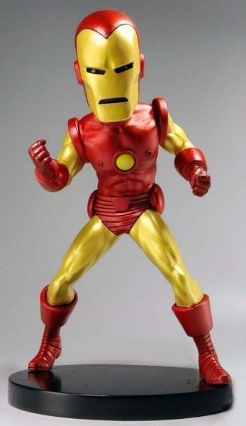 Marvel Classic Iron Man Extreme Headknocker Wackelkopf action figur neca. Neu