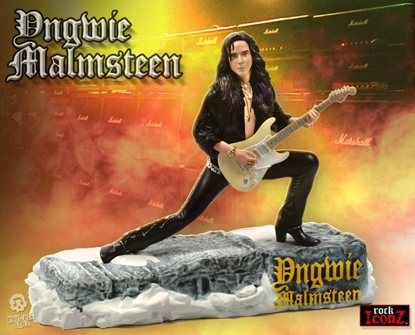 Knucklebonz Rock Iconz - Yngwie Malmsteen Statue action figur Neu